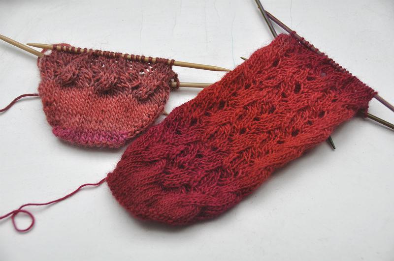 Sockenkalender Juli * Lace-Socken \